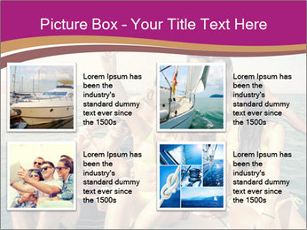 Group of friends on a boat selfie PowerPoint Template - Slide 14