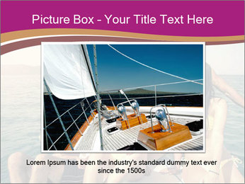 Group of friends on a boat selfie PowerPoint Template - Slide 15