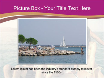 Group of friends on a boat selfie PowerPoint Template - Slide 16