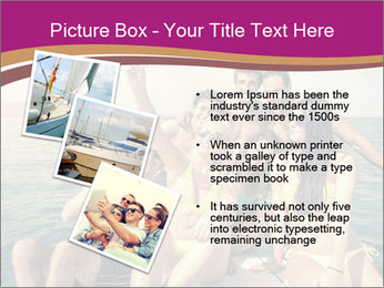 Group of friends on a boat selfie PowerPoint Template - Slide 17