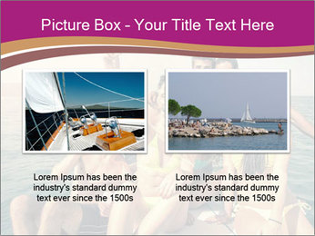 Group of friends on a boat selfie PowerPoint Template - Slide 18