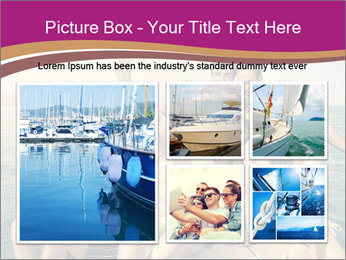 Group of friends on a boat selfie PowerPoint Template - Slide 19