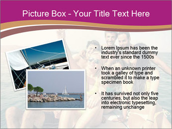 Group of friends on a boat selfie PowerPoint Template - Slide 20