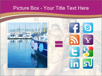 Group of friends on a boat selfie PowerPoint Template - Slide 21