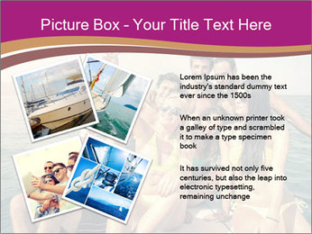 Group of friends on a boat selfie PowerPoint Template - Slide 23