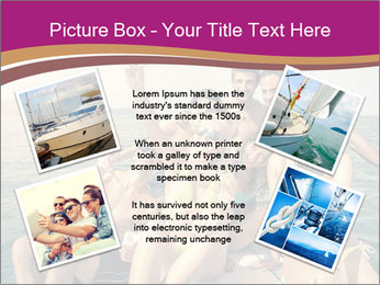Group of friends on a boat selfie PowerPoint Template - Slide 24
