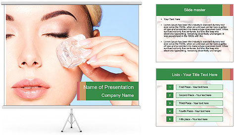 Closeup portrait of beautiful young woman PowerPoint Template