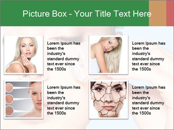 Closeup portrait of beautiful young woman PowerPoint Template - Slide 14