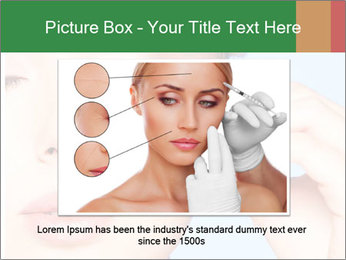 Closeup portrait of beautiful young woman PowerPoint Template - Slide 15