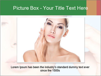 Closeup portrait of beautiful young woman PowerPoint Template - Slide 16