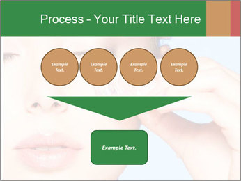 Closeup portrait of beautiful young woman PowerPoint Templates - Slide 93