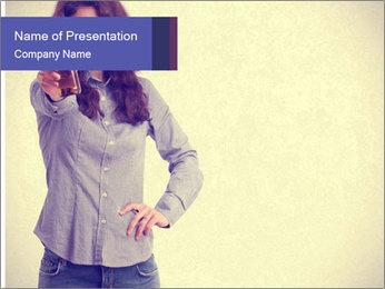 Happy girl PowerPoint Template