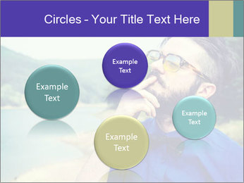 Hipster man thinking PowerPoint Template - Slide 77