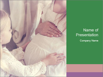 Young pregnant woman PowerPoint Template