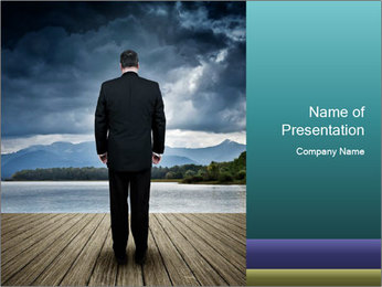 Depresssed Businessman PowerPoint Template - Slide 1