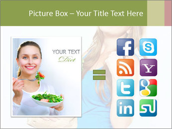 Woman Holding Shopping Bag PowerPoint Template - Slide 21
