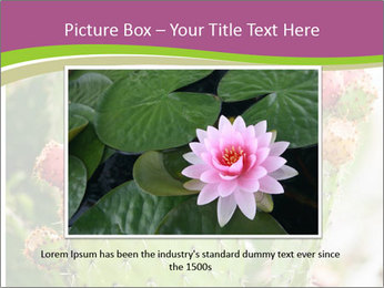 Cactus In Blossom PowerPoint Templates - Slide 16
