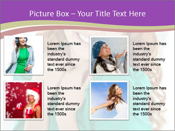 Charming Red-Haired Woman PowerPoint Template - Slide 14