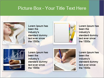 Woman Makes Notes In Notebook PowerPoint Template - Slide 14