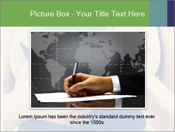Woman Makes Notes In Notebook PowerPoint Template - Slide 16