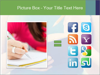Woman Makes Notes In Notebook PowerPoint Template - Slide 21