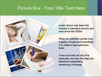 Woman Makes Notes In Notebook PowerPoint Template - Slide 23