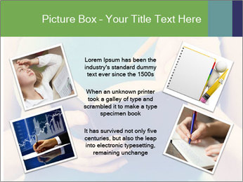 Woman Makes Notes In Notebook PowerPoint Template - Slide 24