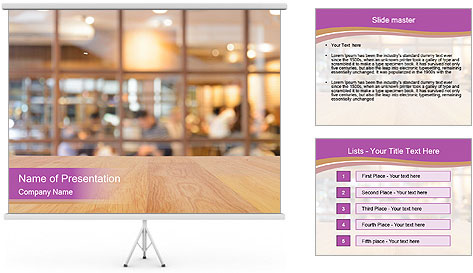 Retro Cafe PowerPoint Template