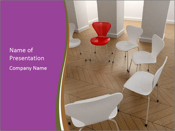 Chairs In Seminar Room PowerPoint Template - Slide 1