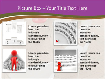 Chairs In Seminar Room PowerPoint Template - Slide 14