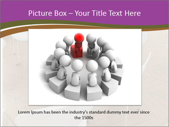Chairs In Seminar Room PowerPoint Template - Slide 15