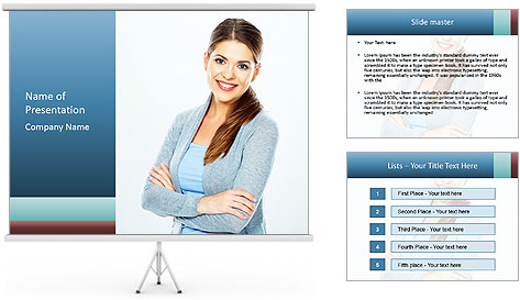 Cute Woman PowerPoint Template