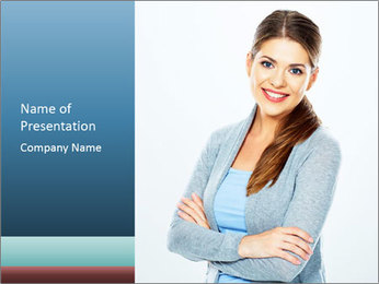 Cute Woman PowerPoint Templates - Slide 1