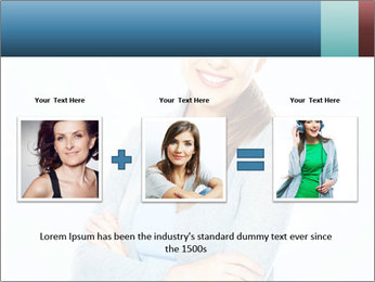 Cute Woman PowerPoint Templates - Slide 22
