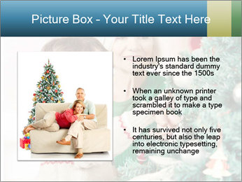 Grandmother And Granddaughter Decorate Christmas Tree PowerPoint Template - Slide 13