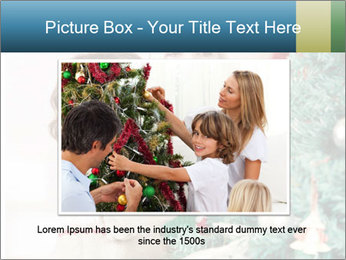 Grandmother And Granddaughter Decorate Christmas Tree PowerPoint Template - Slide 16