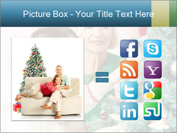 Grandmother And Granddaughter Decorate Christmas Tree PowerPoint Template - Slide 21