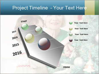 Grandmother And Granddaughter Decorate Christmas Tree PowerPoint Template - Slide 26