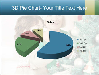 Grandmother And Granddaughter Decorate Christmas Tree PowerPoint Template - Slide 35