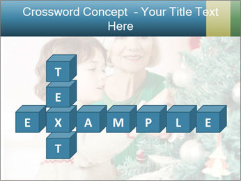 Grandmother And Granddaughter Decorate Christmas Tree PowerPoint Template - Slide 82