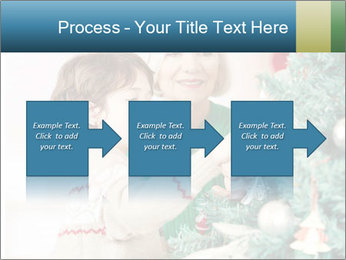 Grandmother And Granddaughter Decorate Christmas Tree PowerPoint Template - Slide 88