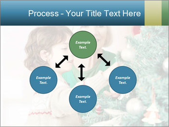 Grandmother And Granddaughter Decorate Christmas Tree PowerPoint Template - Slide 91
