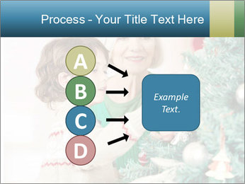 Grandmother And Granddaughter Decorate Christmas Tree PowerPoint Template - Slide 94