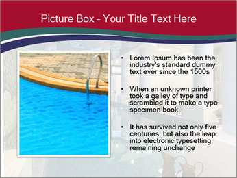 Pool Inside Mansion PowerPoint Templates - Slide 13