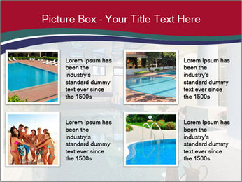 Pool Inside Mansion PowerPoint Template - Slide 14