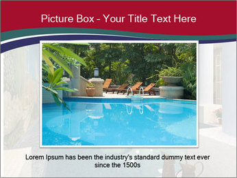 Pool Inside Mansion PowerPoint Templates - Slide 15
