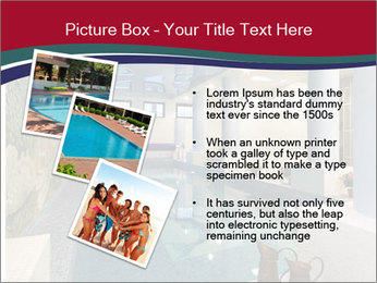 Pool Inside Mansion PowerPoint Template - Slide 17