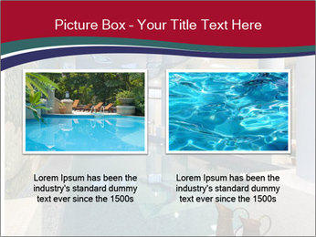 Pool Inside Mansion PowerPoint Templates - Slide 18