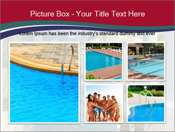Pool Inside Mansion PowerPoint Templates - Slide 19