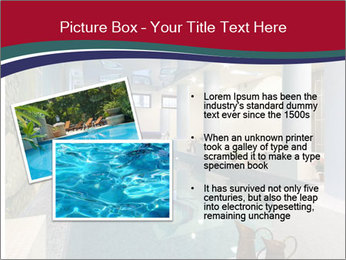 Pool Inside Mansion PowerPoint Templates - Slide 20
